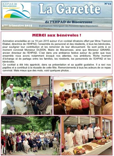 Gazette 2ème trimestre 2015